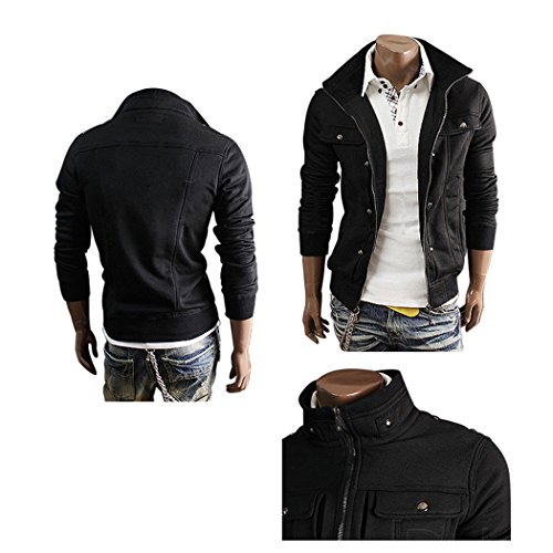 Sun Lorence Men Lightweight Solid Slim Jackets Zipper Stand Collar Sweatshirts durable modeling