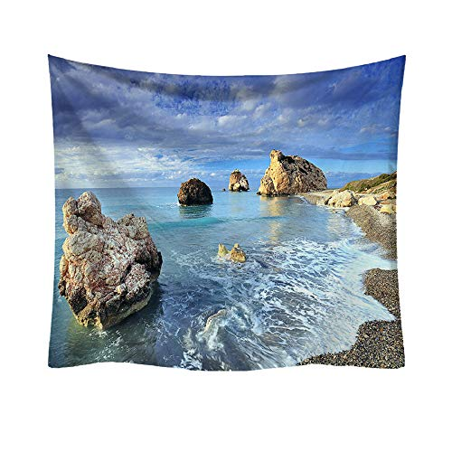 BOLUOYI Christmas Decorations Sale,Fashion Tapestry Ocean Pattern Fresh Style Decorative Home Decor -