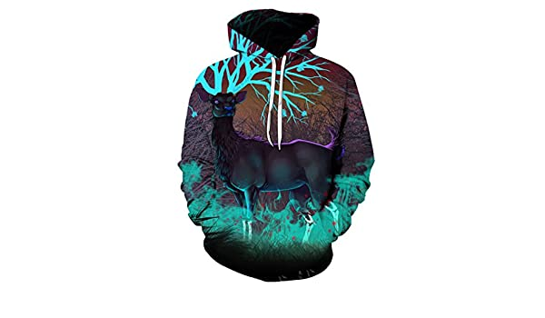Fashion 1958 New Hoodies Men Sudaderas Hombre Male Hip Hop Brand Deer Printed 3D Hoodie Sweatshirt Casual Pullovers Hoody Tops Dropship at Amazon Mens ...