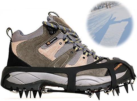 Amicc 18Teeth Claws Crampon Ski Ice Snow Spikes Non-slip Shoe Cover for Climbing (Medium)