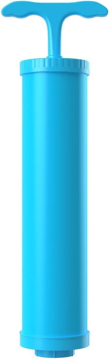 HEXU Bomba de vac/ío Portable Aire de extraccion para Bolsas de almacenamiento al vac/ío Bomba manual Azul