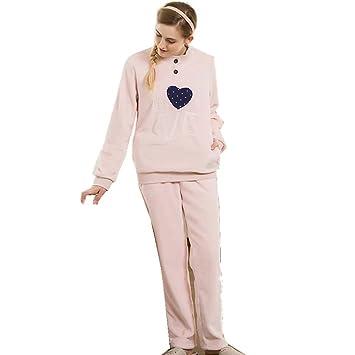 Franela de manga larga de las últimas mujeres ronda collar pijama bata invierno ropa de dormir