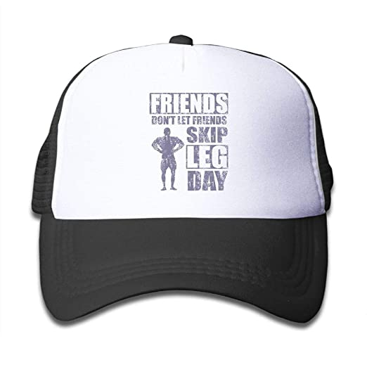 01b91ec07eecb Image Unavailable. Image not available for. Color  NO4LRM Kid s Boys Girls Friends  Don t Let Friends Skip Leg Day Youth Mesh Baseball