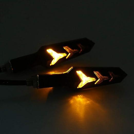 Fanuse Luz de Se?Alizaci/óN Direccional Din/áMica LED Indicadores LED Luz Intermitente 18 SMD Luz /áMbar Intermitente para V-W 4 Passat