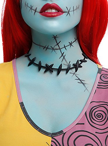 [The Nightmare Before Christmas Sally Stitches Choker Cosplay Necklace] (Sally A Nightmare Before Christmas Costumes)