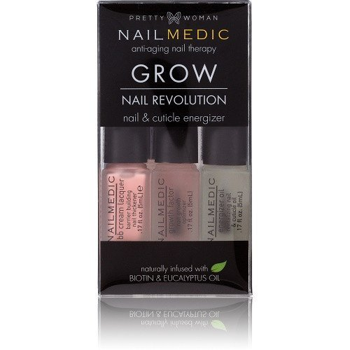 Pretty Woman NAIL MEDIC Nail GROW Nail Polish & Cuticle Energizer With Biotin & Eucalyptus Oil VEGAN by Pretty Woman (Image #1)