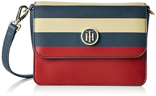 Tommy Hilfiger Women's HONEY FLAP CROSSOVER STRIPE Cross-body Bag