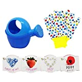 The Neko Cafe Kids Gardening Set - Gloves, Watering Can and 4 Flower Seed Pots