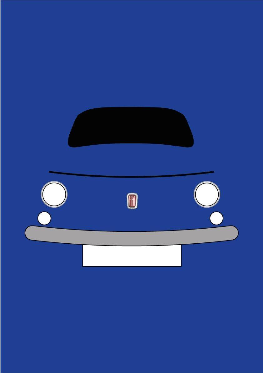 Biglietto di auguri Retro Motor Company Classic Fiat 500