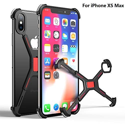 OATSBASF Compatible with Xs Max Corner Bumper, Metal Case Buckle Without Signal Blocking Shockproof Frame Case Compatible with Xs Max(6.5)