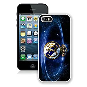 iPhone 5 5S Case,Excellent protection Real Madrid Football White For iPhone 5 5S Case