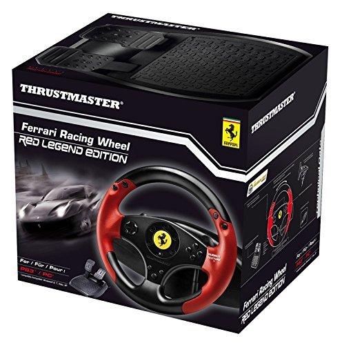 Thrustmaster Ferrari Racing Wheel Red Legend Edition Lenkrad Inkl 2 Pedalset Ps3 Pc Amazon De Games