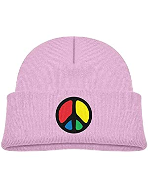Fashion Peace Printed Toddlers Baby Winter Hat Beanie