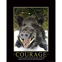 Hog Hunting Dog Trap Pig Wild Boar Motivational Poster Art Print 11x14 Wall Decor Pictures