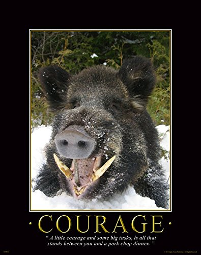 Hog Hunting Dog Trap Pig Wild Boar Motivational Poster Art Print 11×14 Wall Decor Pictures