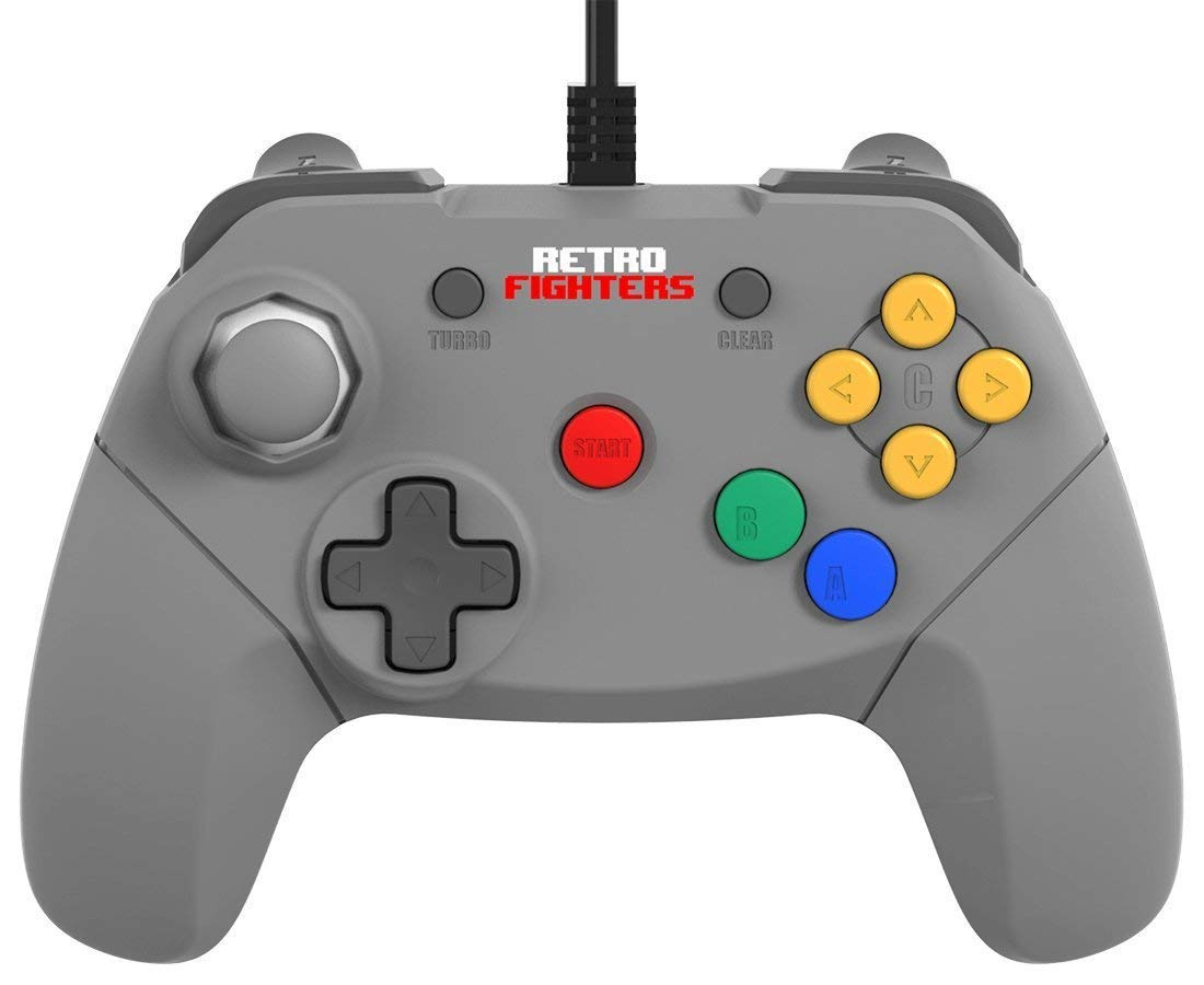 Retro Fighters Brawler64 Next Gen N64 Controller Game Pad - Gray