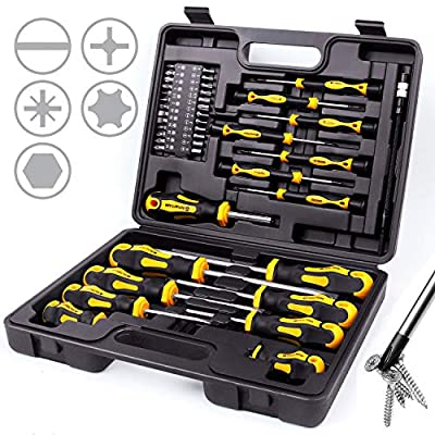 Amartisan 42-piece Magnetic Screwdriver Set with Case, Includs Slotted, Phillips, Hex, Pozidriv,Torx and Precision Screwdriver Set