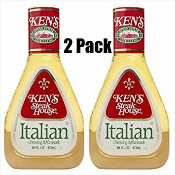 Ken's Steak House Italian Dressing & Marinade, 16 Oz (Pack of 2)