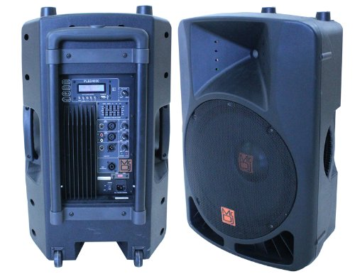 Mr. Dj PLED-4000 2-Way 15-Inch Portable Active Speaker with MP3/FM Radio/Bluetooth/Microphone by Mr. Dj