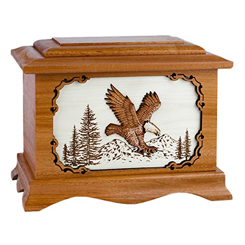 Wood Cremation Urn - Mahogany Eagle Ambassador