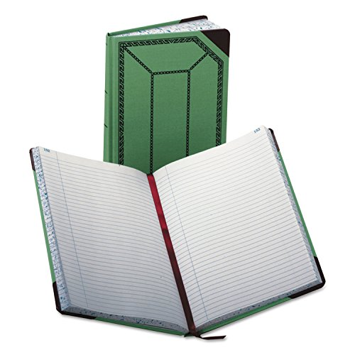 Esselte Record-Ruled Canvas Books - 300 Sheet(s) - 12.50quot; x 7.62quot; Sheet Size - White - ()