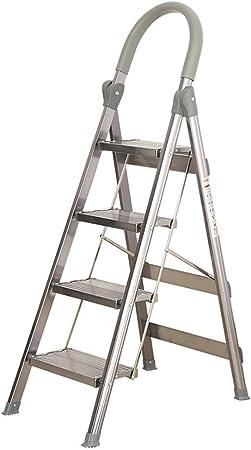 HAOHAODONG Aleación de Aluminio Grueso Escalera Plegable Casa Raspa de Arenque Escalera telescópica Interior Ingeniería Escalera de la Escalera mecánica Escaleras,1: Amazon.es: Hogar