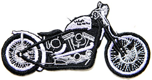 White Motorcycles Model Logo Rider Biker Jacket Back Patch Sew Iron on Embroidered Badge - Biker Vinyl Jacket