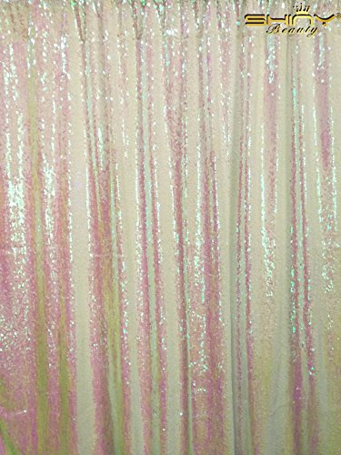 ShinyBeauty Reversible-Sequin Curtain Backdrop-Changed White-20FTx10FT,Mermaid Sequin Fabirc Backdrops For Photography,Unique/Shimmer Party or Wedding Backdrop by ShinyBeauty