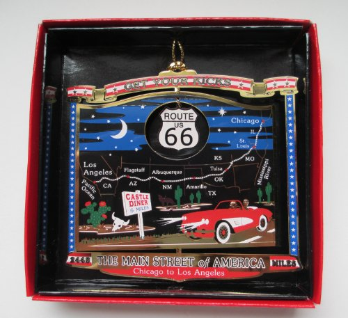 Route 66 The Main Street of America Christmas Ornament Souvenir - Shops State Chicago On Street