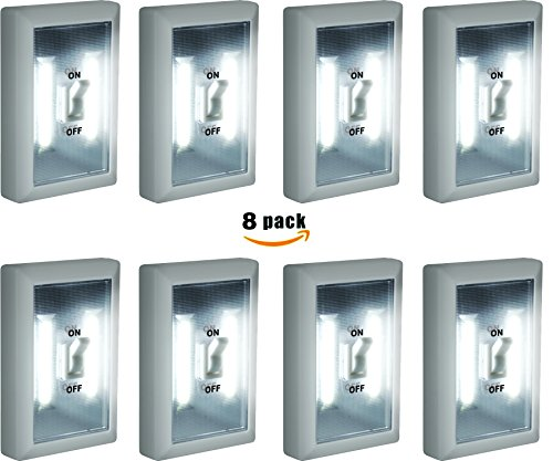 8-Pack - Super Bright Switch: Wireless Peel and Stick LED Lights - Tap Light, Touch, Night, Utility, Battery Operated, Under Cabinet, Shed, Kitchen, Garage, Basement by Super Bright (Image #7)