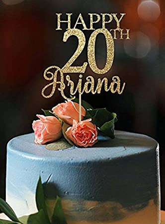 20th Birthday Cake Topper Any Age Happy Party Decor
