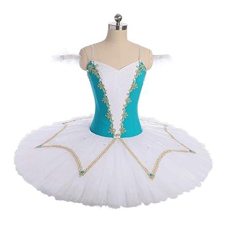 QSEFT Adulto Azul Cisne Lago Trajes De Ballet Niñas Ballet Clásico ...