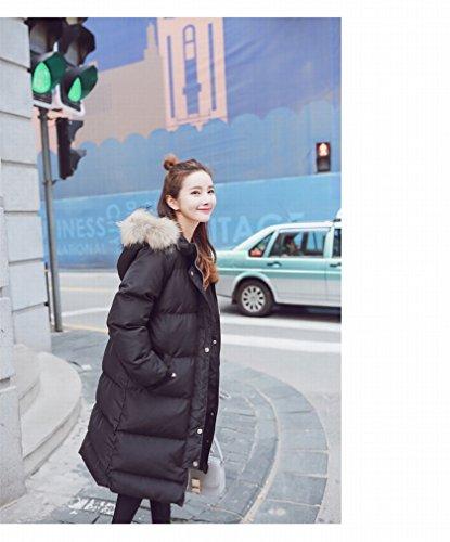 La Mujeres Engrosamiento Cuello Invierno De Lana Abajo Abrigo Larga Chaqueta Ropa En Marea Gcci Algodón Negro Sección w6q0Rtvx