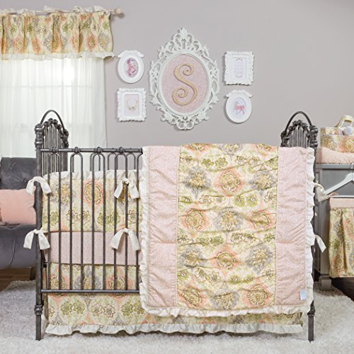 (Trend Lab Waverly Rosewater Glam 3 Piece Crib Bedding Set)