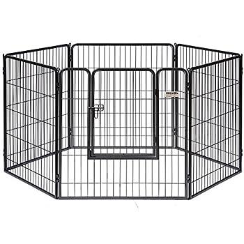 Amazon Com Allmax Metal Pet Fence Black Pet Crates