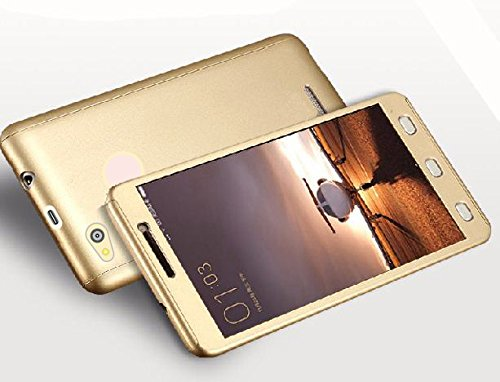 pretty nice 46362 d6ca2 CEDO 360 Degree Full Body Protection Front and Back Case Cover iPaky Style  with Tempered Glass for Xiaomi Redmi 3S Prime (Gold)