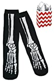 Skeleton Foot Big Boys' Boot Socks & Reusable Bag 2 Item Multi-Pack