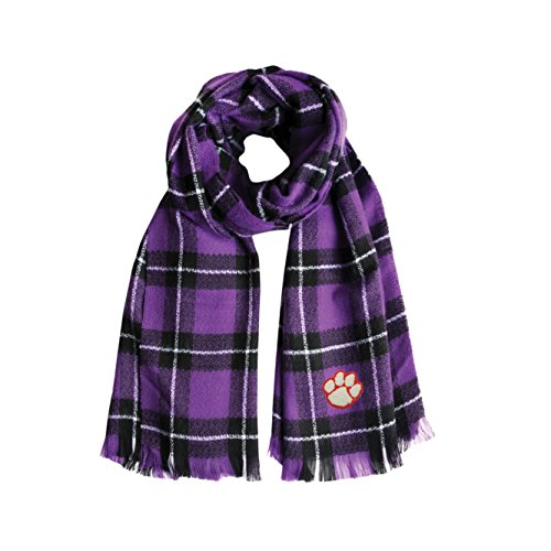 Littlearth NCAA Clemson Tigers Plaid Blanket Scarf ()