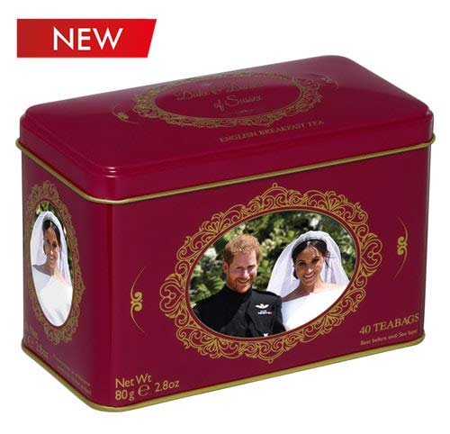 New English Teas Prince Harry & Meghan Markle Commemorative Tin 40 Teabags