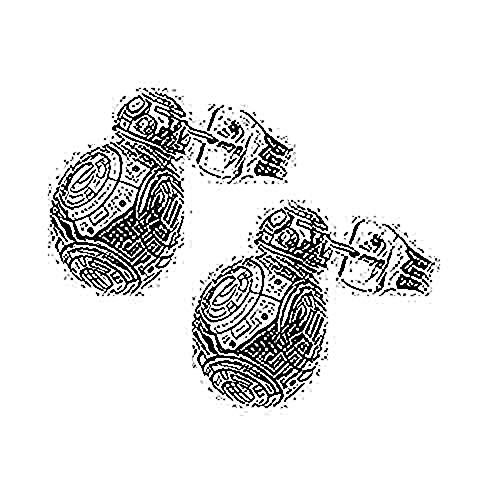 Disney Women's Star Wars Stainless Steel Episode 7 BB8 Lead Hero Droid Polish 3D Stud Earrings (Lightsaber Wars Earrings Star)