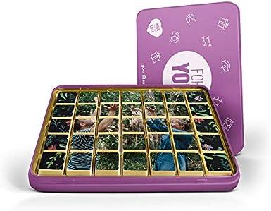 Caja metálica de chocolates con foto: Amazon.es: Alimentación y ...