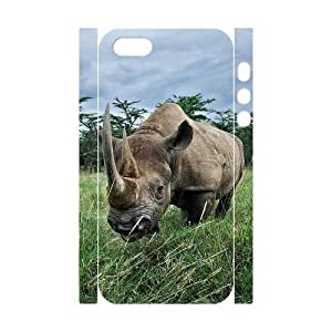 3D Bumper Plastic Customized Case Of Rhinoceros for iPhone 5,5S