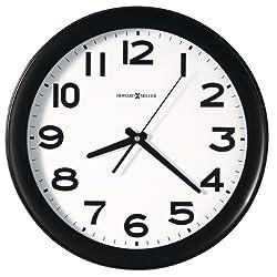 Howard Miller Easy Kenwick Wall Clock, 13-1/2, Black (625485)