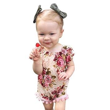 feiXIANG Bebé niño niña Ropa Infantil de Navidad Mono recién ...
