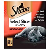 Sheba Select Slices Cat Pouches Meaty in Gravy 12 x 85g