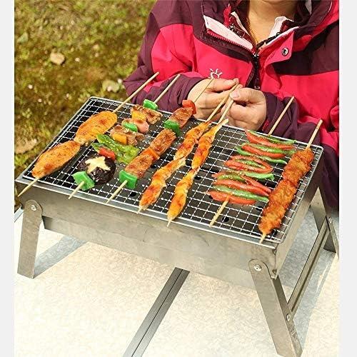 WYJBD en Acier Inoxydable Barbecue À Charbon De Bois Portable Pliable en Plein Air Barbecue Plancha Appareil De Cuisson for Camping Tailgating Backpacking Randonnée Pique-Nique