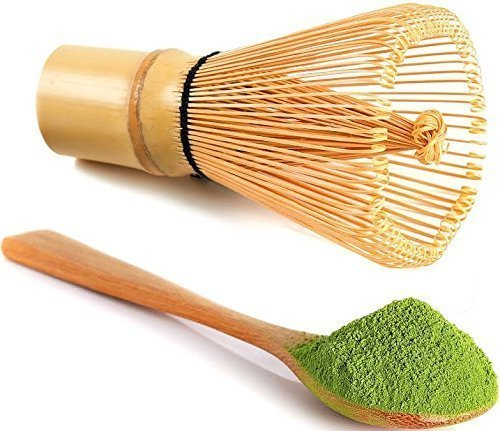 uVernal Matcha Whisk & Tea Spoon Natural Bamboo Matcha Green Tea Powder Bamboo Whisk (Chasen) for Preparing Matcha