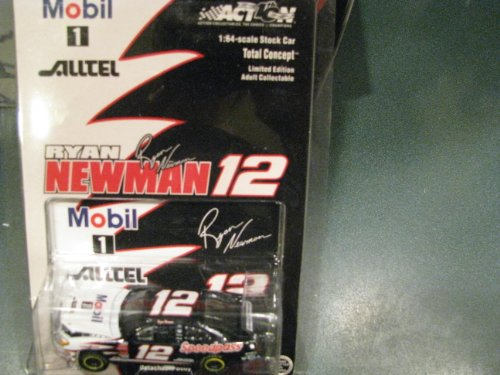 2002 Rookie Year Ryan Newman #12 Mobil 1 Alltel Speedpass Ford Taurus 1/64 Scale Hood Opens Action Racing Collectables ARC Limited Edition Yellow Rookie ()