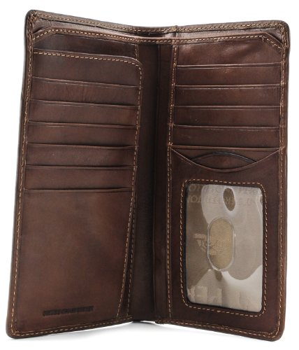 - Mens Long Bifold Checkbook Cover Wallet Multi Card Pocket Holder Italian Leather