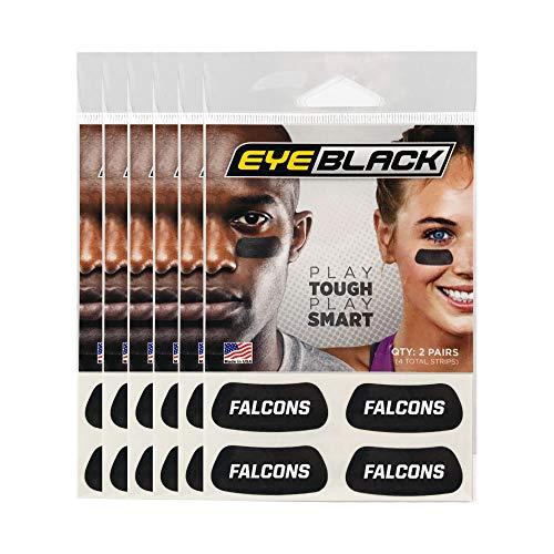 Falcons Team Name Eye Black (24 Strips)